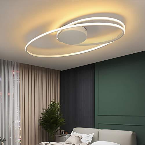 ZMH LED Deckenleuchte Wohnzimmer Modern Deckenlampe Weiß in Ring-Design 36W 3000K Warmweiß Innen Deckenbeleuchtung für Schlafzimmer Küche Esszimmer Büro Flur Balkon