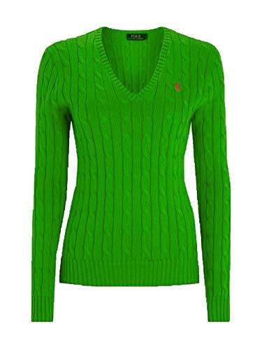 Ralph Lauren Kimberly - Polo de punto para mujer con diseño trenzado...