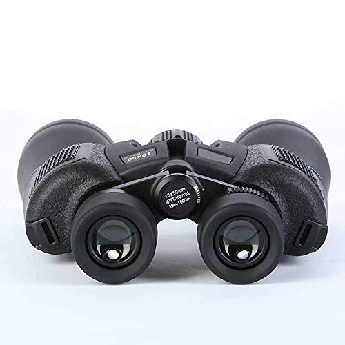 IGPG Dubbele buis, telescoop, 10 * 50 HD, buiten, waterdicht, glanzend, nachtzicht, telescoop (kleur: zwart)