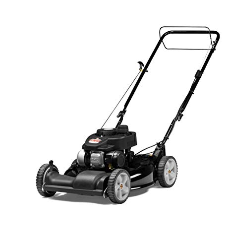 Yard Machines 140cc OHV 21-Inch 2-in-1 Self-Propelled FWD Gas Powered Lawn Mower - Perfect for Small to Medium Sized Yards - Side Discharge and Mulching Capabilities, Black