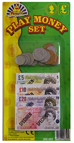 Play Money Set with Coins