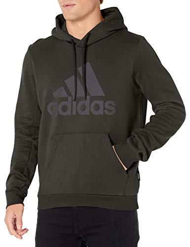 adidas mens Badge of Sport Fleece Hoodie Earth Medium
