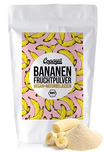 Copaya Bio Bananenpulver aus vollreifen Bananen, ideal für Shakes, Smoothies, Müslis und zum Backen 250g