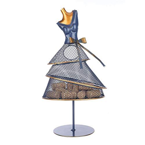 Yousiju Soporte de Corcho de Vino, Vestido de Noche, Modelo de decoración, contenedor de Hierro Multifuncional, Arte Moderno, decoración de Armario o Escritorio (Color : A)