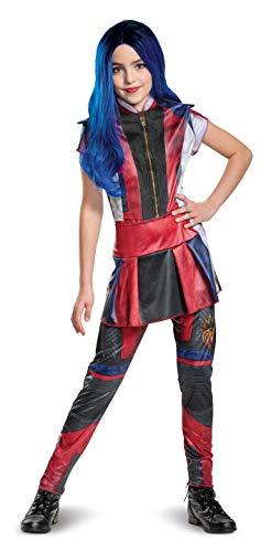 Disguise Disney Evie Descendants 3 Classic Girls Costume, Red, Medium (7-8)
