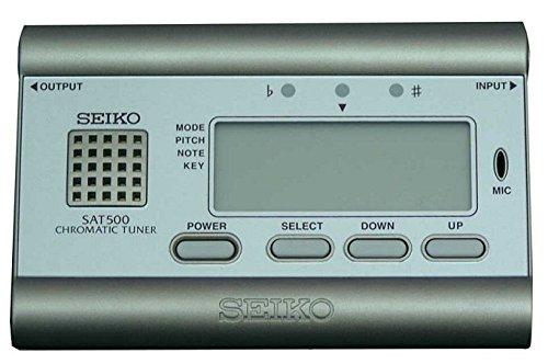 Seiko SAT500G - Afinador crómatico, color plateado