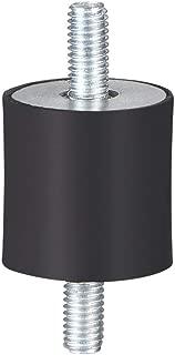uxcell ゴム製振動マウント ゴム製 ブラック エアコンプレッサーボビンアイソレータダンパー D20 x H20 M5 x 11mmスタッド 4個入り