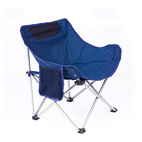 Aajolg Chaises Pliantes extérieures de Camping de Chaise, Tube de Fer épaissi par Tissu de PVC d'Oxford de 600 * 300D avec la Chaise de Camp portative de Sac de Rangement,Blue