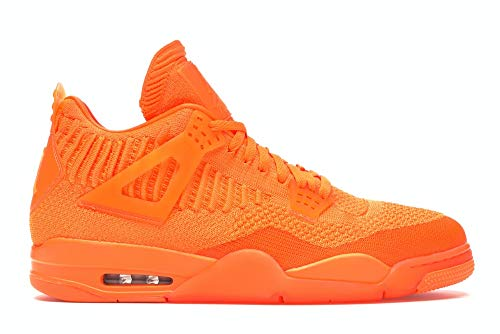 Nike Air Jordan 4 Retro Flyknit - total orange/total orange-total ora, Größe:5.5