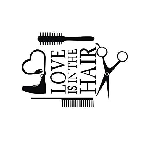 TAOYUE Liefde Haar Stylist Sticker Sticker Dryer Schaar Salon Logo Venster Motorfiets Vrachtwagen Bumper Deur Vinyl Decal Haardroger