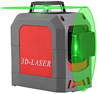 Green Beam 8 Line Laser Level with Tripod for Indoor Outdoor Construction Self Leveling Alignment Horizontal Vertical Measurement Tool