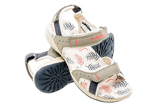 Hi-Tec - Sandalias de Vestir de Poliuretano para Mujer Beige Beige
