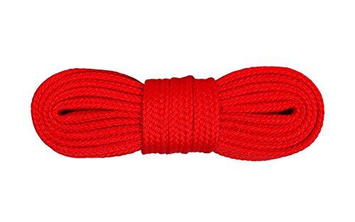 Kaps Schnürsenkel Turnschuhe & Freizeitschuhe, hochwertig, strapazierfähig, hergestellt in Europa, 1 Paar (120cm – 7 bis 9 Schnürösenpaare/Rot)