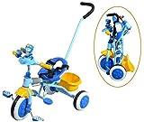 IMBM - Luz plegable para niños en triciclo con manecillas para empujar la bicicleta plegable con putter para bebé triciclo con la cesta
