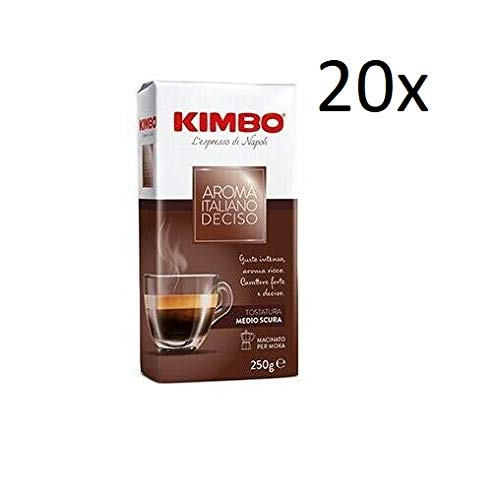 20x KIMBO Aroma Italiano Deciso Kaffee gemahlen Italienisch Espresso 250g