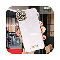 Hully ラインストーンスパークリング電気メッキ電話ケースiPhone12 mini 12 11 Pro Max XR X XS Max 7 8 P Cover for HUAWEI P30 Mate30-Only case White-For iphone 7