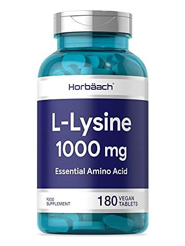 L-Lysine 1000mg | 180 Tablets | Essential Amino Acid | Vegan & Vegetarian | Non-GMO, Gluten Free Supplement