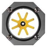 V BESTLIFE Medidor de Agua, Enfriador de PC Indicador de Agua de enfriamiento de Agua G1/4 Enfriador de aleación de Aluminio para PC Sistema de enfriamiento de Agua(gris)