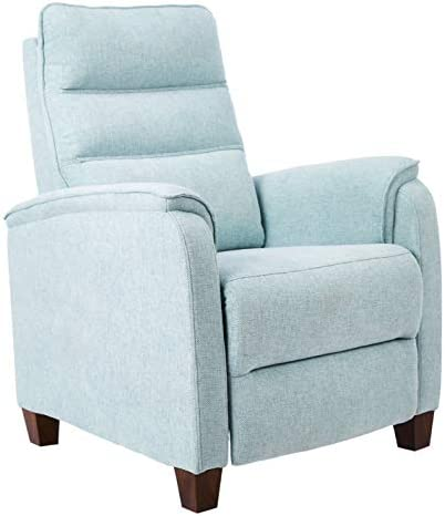 Best JC Home Arm Push recliner, one size, Sky blue