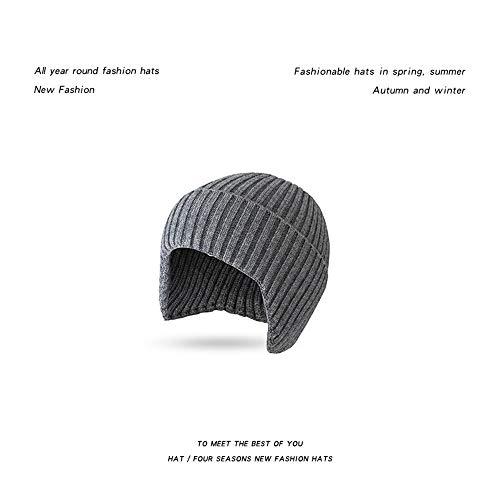 Bonnet FS orange Ear Protection Bonnet Bonneterie Chapeaux Automne Hiver Cap for les femmes hommes Street Wear Style Japonais Woollen Hat 2020 couverture ( Color : Gray Beanie , Size : One Size )