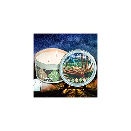 The Candle Cottage SC100 Double Wick Sportsman Collection Scented Candle, 12 Oz (Camp Fire)