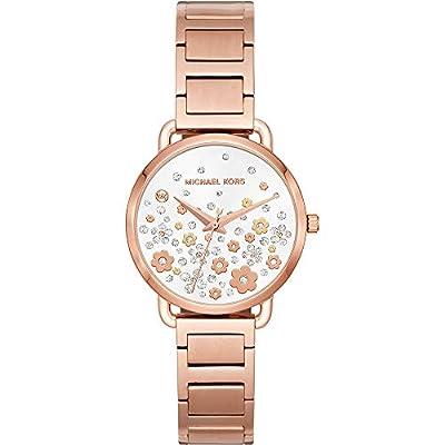 Michael Kors relojes para mujer Portia Rose Gold-tone reloj