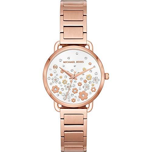 Michael Kors Damen Analog Quarz Uhr mit Edelstahl Armband MK3841
