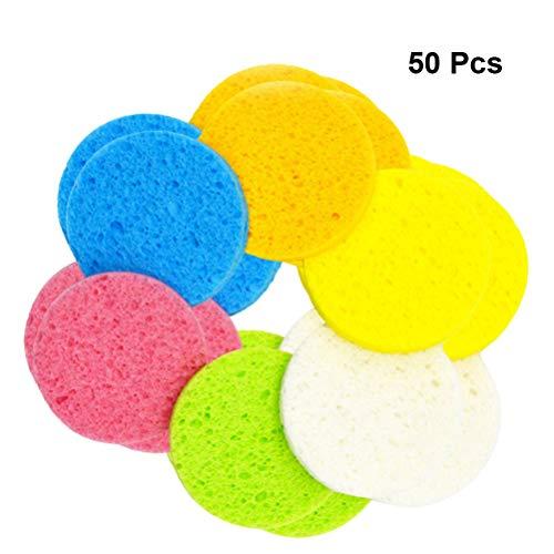 Frcolor 50 piezas esponjas limpieza facial exfoliantes
