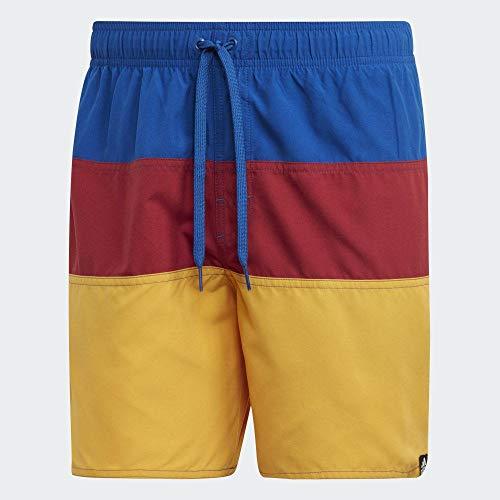 adidas Color Block Swim Shorts Pantalones Cortos, Multicolor (Collegiate Royal/Active Maroon), M para Hombre