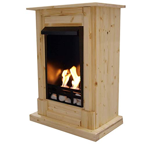 Bio Ethanol Fireplace - Model Madrid - Nature - Including Accessories