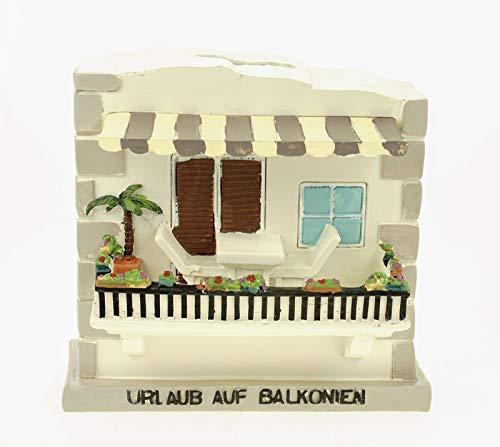 Kremers Schatzkiste Hucha de vacaciones en balcones, 14 cm, caja de viaje