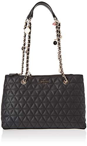 Guess - Fleur, Shoppers y bolsos de hombro Mujer, Negro (Black/Bla), 30x21x11...