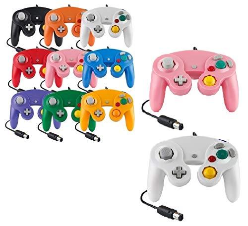 Controller Für Game Cube Weiß und Switch kabelgebunden Gamepad Joypad (Weiß / Pink)
