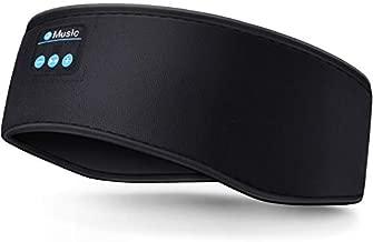 Sleep Headphones Bluetooth Headband Wireless Bluetooth 5.0 Headphones Music Travel Sleeping Headphones Handsfree Sleeping Mask for Sleeping, Workout, Yoga, Gift(Black)