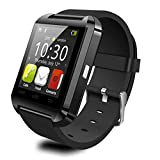 Bluetooth 3.0 Smart Watch U8 Wearable Wristband Dial Call Fitness Tracker Music Player Smart Phone Portable Smartwatch Dropship, Black