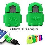 KRS 2xA1 Grün - USB OTG Robot - OTG Adapter Micro-USB-Stecker Typ B/USB-Kupplung Buchse Typ A OTG Android -USB Adapter 7
