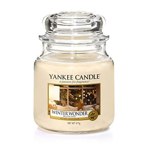 Yankee candle Jar Winter Wonder Candela di Natale, Multicolore, Unica