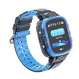 PRIXTON - Reloj GPS niños/Reloj Digital para niños con GPS, Botón SOS, Ranura para SIM Que Permite Llamadas y Mensajes, Alarma por limitación geográfica y Cámara de Fotos, Azul | G300