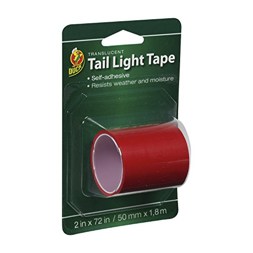 Duck Brand 896026 Automotive Tail Light Tape, 2-Inch by 6-Feet Single Roll, Red