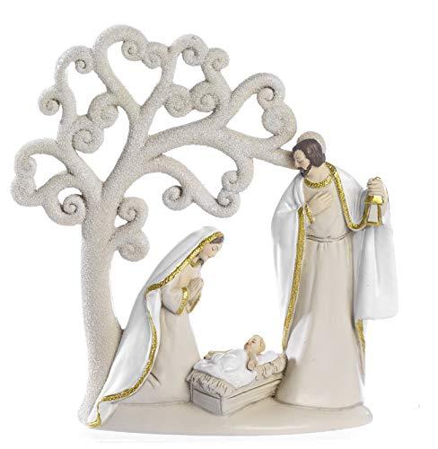 Paben Noel PRESEPE Natività in Resina con Albero della Vita 15.6 cm Natale