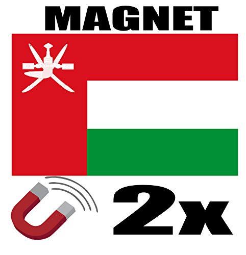 SAFIRMES 2 x Oman Flagge Magnet 6 x 3 cm Magnet Deko Oman Magnet Kühlschrank
