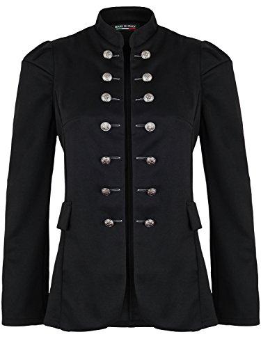 Damen Blazer Militäry Style (513), Farbe:Schwarz, Blazer 1:42 / XL