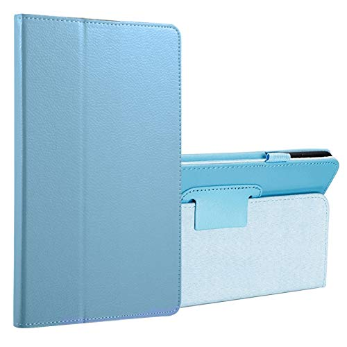 Fundas para tabletas Galaxy Para Samsung Galaxy Tab A 8.0 (2017) / T380 / T385 Litchi textura Horizontal Flip PU funda de cuero protector con soporte Fundas para tabletas Galaxy ( Color : Blue )
