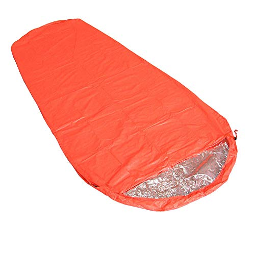 HWCP.CP Sac De Couchage Extérieur Étanche Couverture De Secours pour Champs De Momie Épais Orange Taille 210 X 83Cm