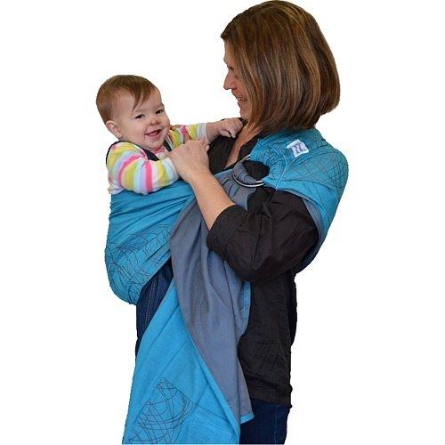 Hoppediz New York Porte-bébé Anneaux Turquoise