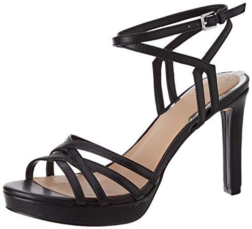 Guess Damen Beachie/Sandalo Leath Sandale mit Absatz, schwarz, 36 EU