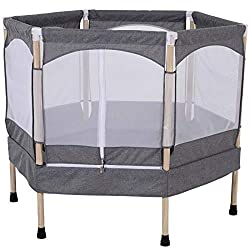 ✅SAFE: High density springs covered with a thick outer edge to prevent injuries if bouncing on the frame edge. ✅METAL HEXAGON FRAME: Utilises the space efficiently for plenty of bouncing space. ✅MESH COVER: Keeps your child in the bouncing area and a...