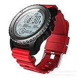 FZXL S968 GPS Smart Watch IP68 Impermeabile Frequenza Cardiaca Monitor Sport Orologio da Polso Pedometro Swimming Diving Smartwatch Uomo,C