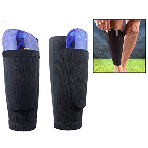 Xrten Soccer Shin Guard sokken met tas mouwen, voetbal scheenbeschermers uitrusting voor beginners of athlet