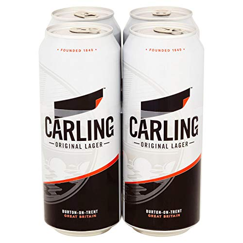 CARLING ORIGINAL LAGER Bier 4.0% Alkohol. biere der welt, Das britische Bier, DIE Biene Großbritanniens (12 dosen, 0.5 l)